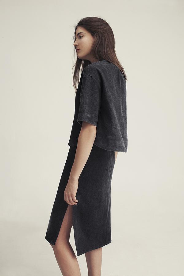 Ursa Minor Chao Dress Black Denim