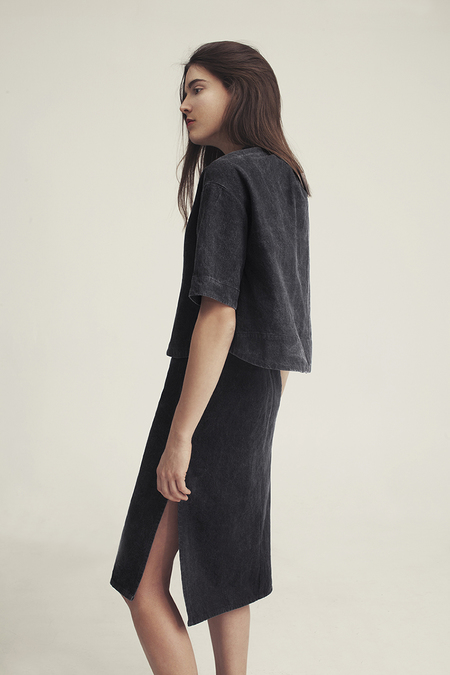 Ursa Minor Chao Dress Black Denim
