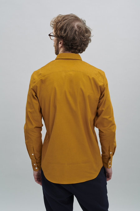 Delikatessen Feel Good Shirt in Japanese Corduroy - Curry Yellow