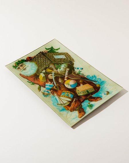 John Derian Scrapbook Santa Wall Tray