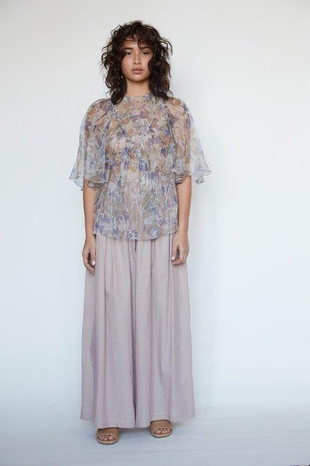 Christine Alcalay Maya Silk Organza Blouse