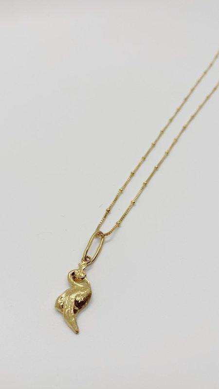 Pamela Card Motif Divine Necklace - 24K Gold