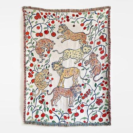 Olivia Wendel Pomegranate Lions Blanket - Multi