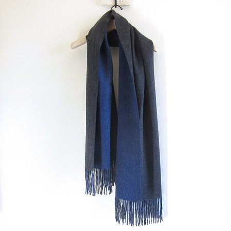 UNISEX CT Plage double face cashmere scarf - dark grey