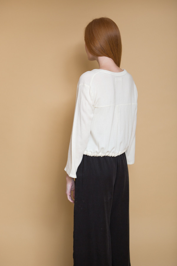 First Rite Crossover Blouse - Natural