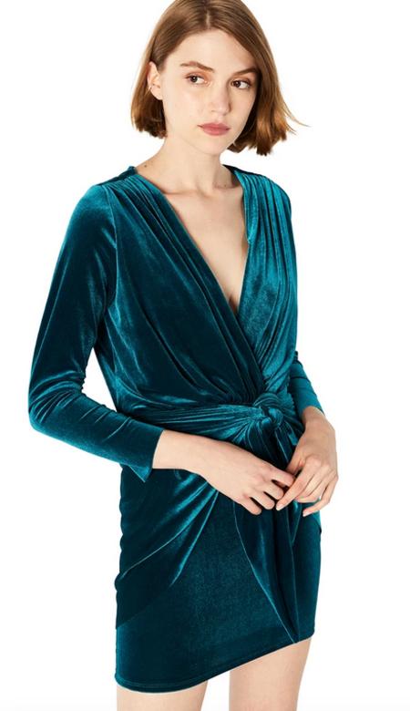 Misa Los Angeles Ophelie Velvet Dress - Teal