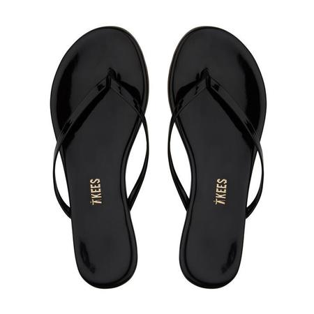 TKEES Glosses Flip Flops - Black
