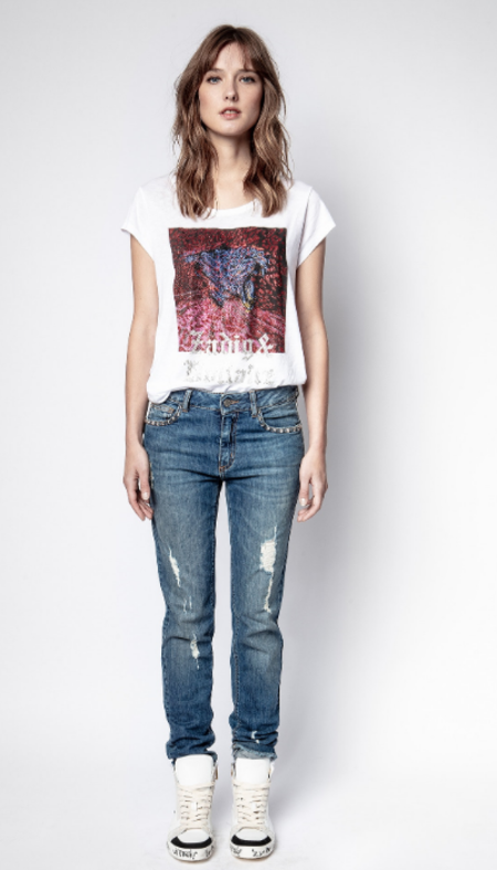 Zadig & Voltaire Antonia Tiger Tee Shirt - White