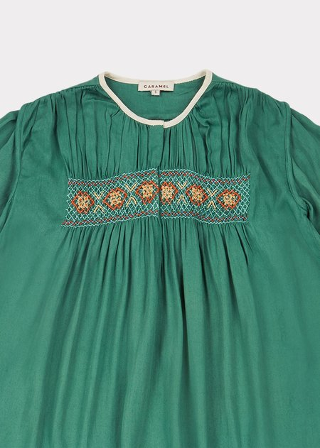 Kids Caramel Dove Dress - Jade