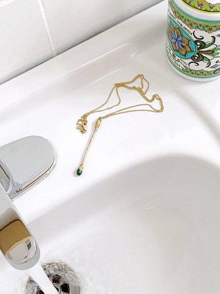 Paige Cheyne Mood Swab Pendant Necklace - Gold filled