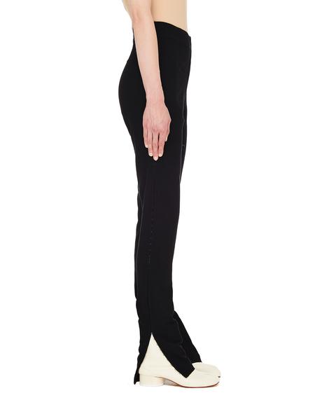 Ann Demeulemeester Black Leggings With Hooks