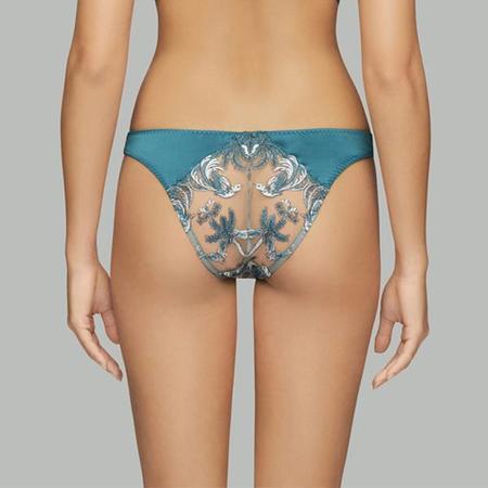 Coco de Mer Lovers Palm Bikini Brief - Teal