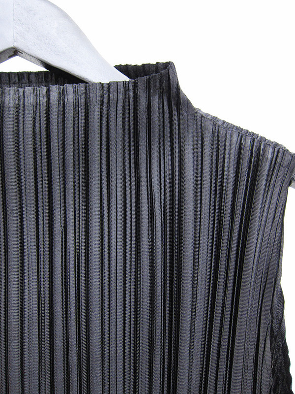 Issey Miyake A Line Painted Dress, Black