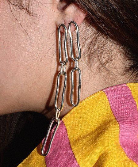Mitchell Street Metal Chain Earrings - Silver