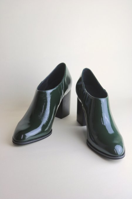 """""""INTENTIONALLY __________."""" NADIA boots - Forest Patent"""