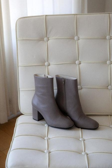 """INTENTIONALLY __________."" Janetta Boots - Taupe"