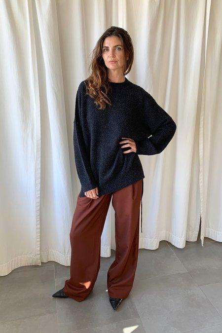 Lauren Manoogian Melange Crewneck Sweater - Black