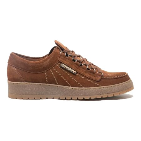 Mephisto Rainbow Velours Suede Shoes - Brown