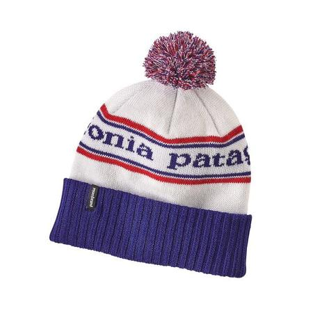 Patagonia Powder Town Park Stripe Beanie - Viking Blue