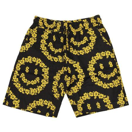 Chinatown Market Smiley Floral Short - Black