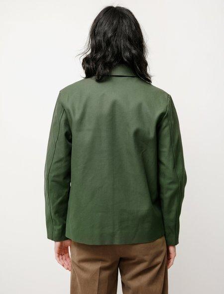 Niuhans UK Military Serge Zip Jacket - Olive Khaki