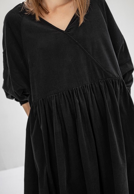 Kowtow Atlas Corduroy Dress - Black