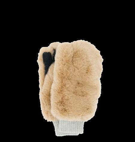 GRIZZLY Vegan Fur Gloves - Light Camel