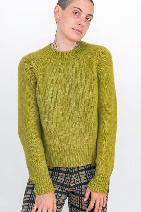 Ali Golden Crew Neck Pullover - Chartreuse