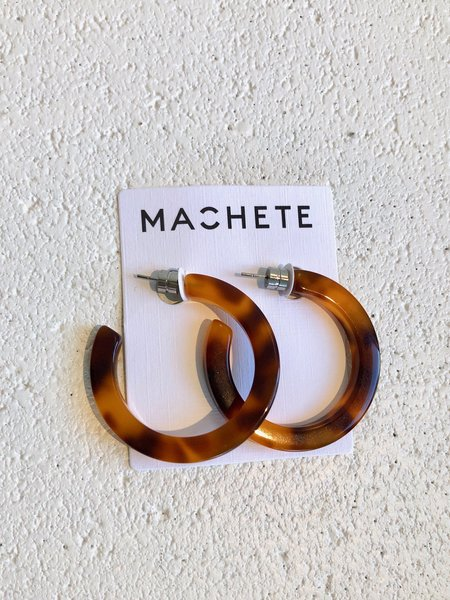 Machete Midi Hoops - Amber