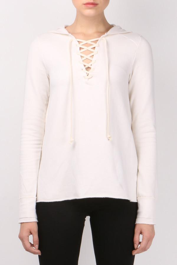 R&R Surplus Lace Up Hooded Sweatshirt