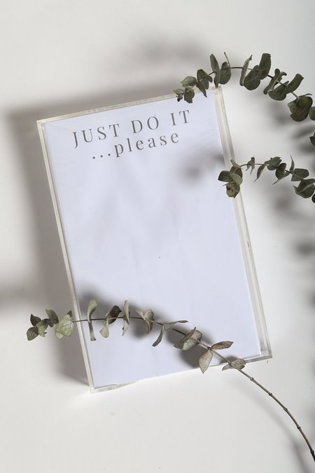 Printed Matter Just Do It... Please Notepad