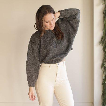 Atelier Delphine Balloon Sleeve Sweater - Charcoal