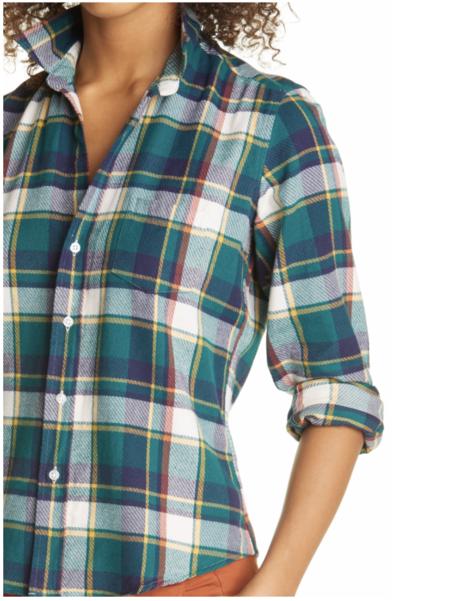 Frank & Eileen Barry Button Up Flannel Shirt
