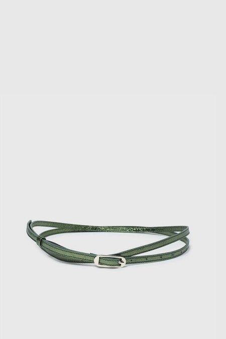Paloma Wool Fiona Leather Belt - Shiny Green