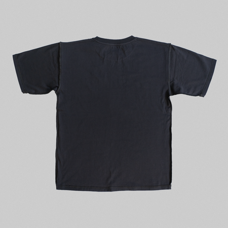 Reborn Garments Double Inside Out Tee Shirt - Ash