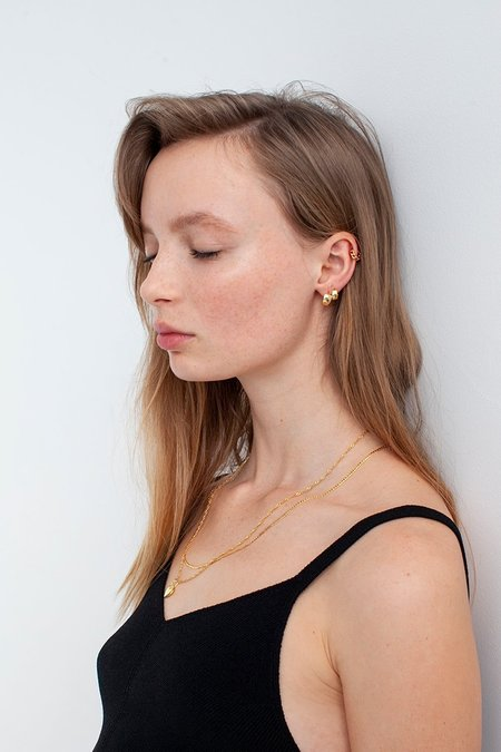 BRIE LEON Large Solid Sleeper earrings - Gold