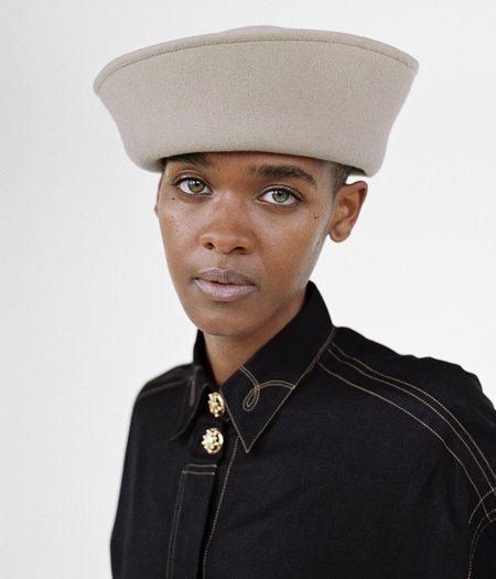 Clyde Crown Wool Hat - Camel
