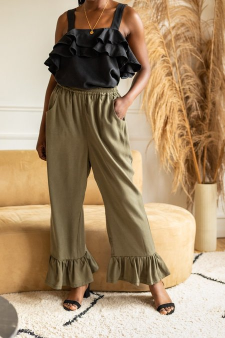Lights Of All Freedom Flow Pant - Moss