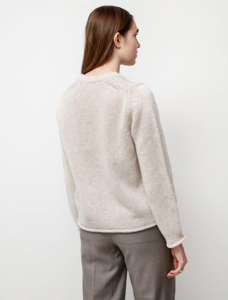 Studio Nicholson Kaneko Lambswool Linen Crewneck sweater - White