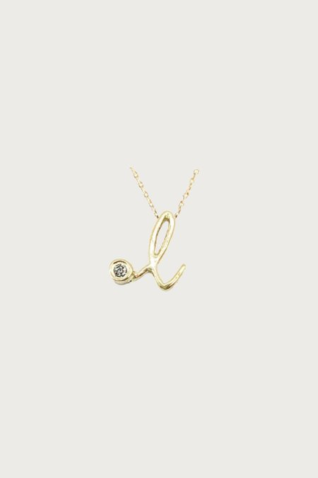 Xiao Wang Dot Dot Letter L Necklace - 14 KY Gold