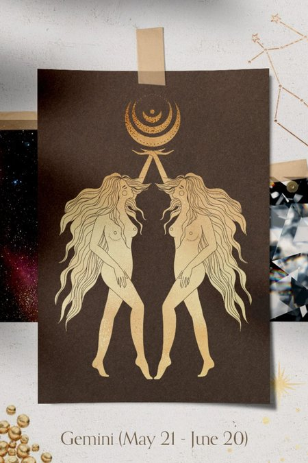 Valley Rose Gemini Constellation Necklace - White Sapphire