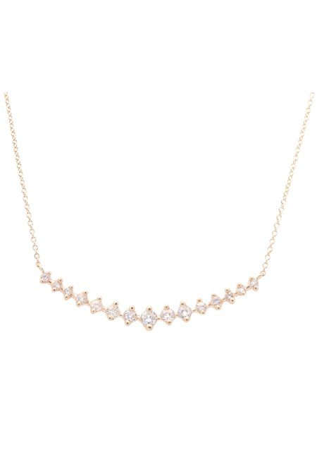 Valley Rose Meissa Necklace - White Sapphires