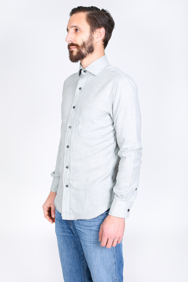 Men's Vert & Vogue Lowell Button-Up in Light Grey