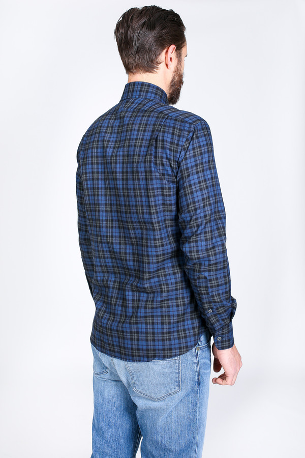 Men's Vert & Vogue Lowell Button-Up in Navy Plaid