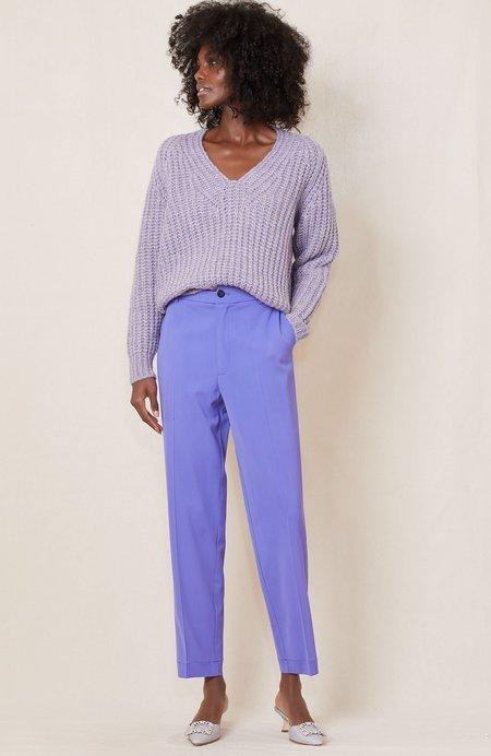Forte Forte V Neck Sweater - Lilac