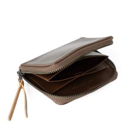 MAKR HORWEEN 3/4 Zip Wallet - Brown