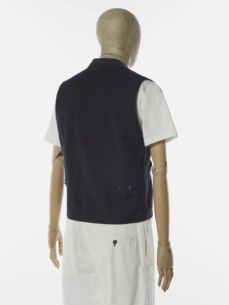 Universal Works Brixton Waistcoat - Navy Wool