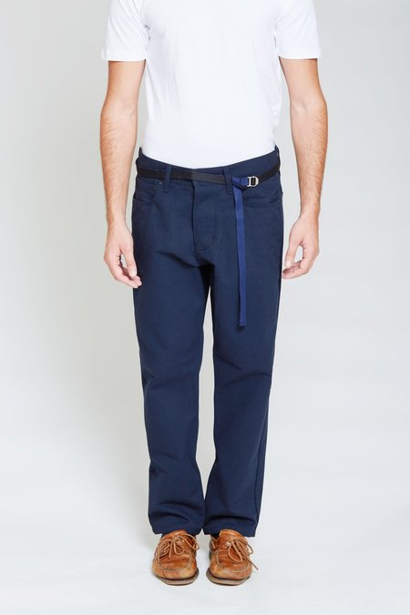 ANT/BODIES Denim Style Cotton Trousers - Midnight Blue