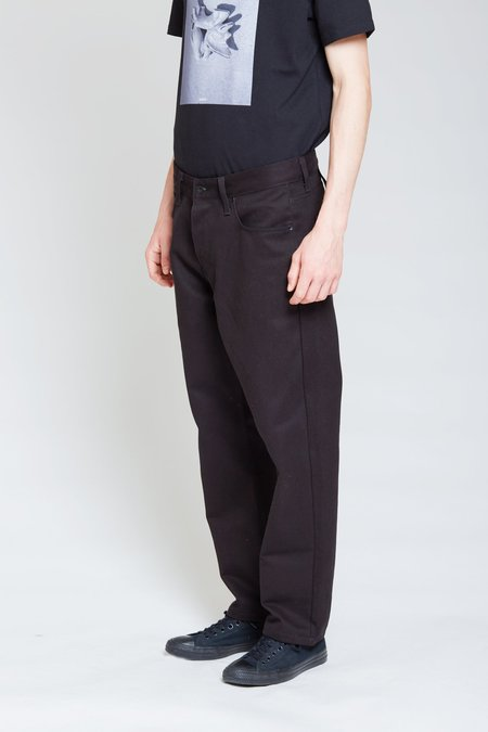 ANT/BODIES Denim Style Cotton Trousers - Black