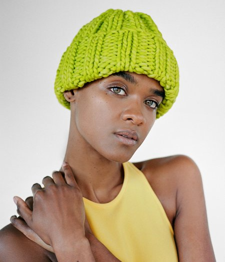 Clyde Fold Hat - Hot Green